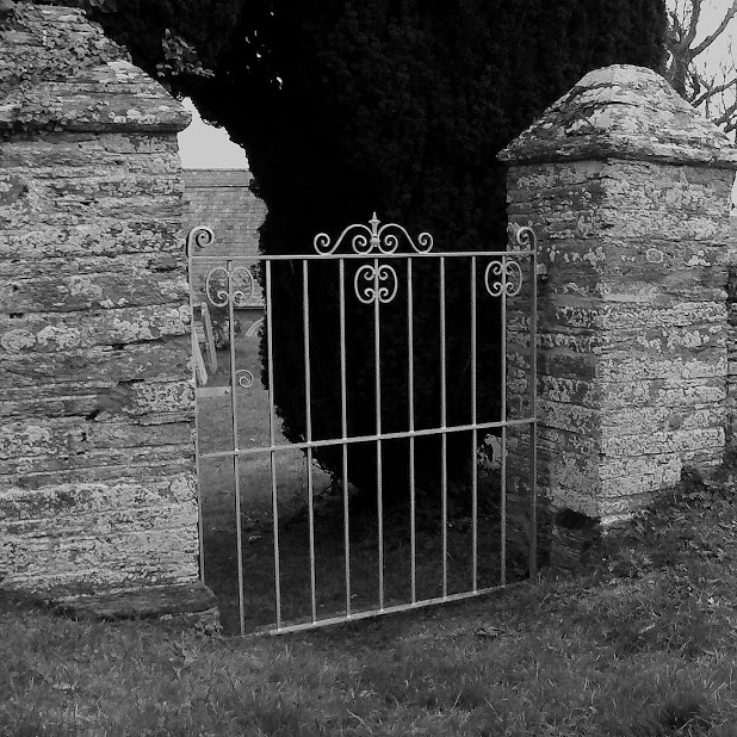 Black & white gate