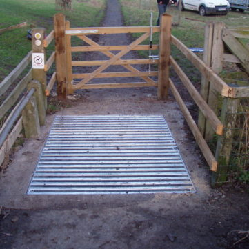 Metal cattle grid with Dart Fabrication