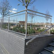 Bespoke stainless steel railings and handrail with Dart Fabrication