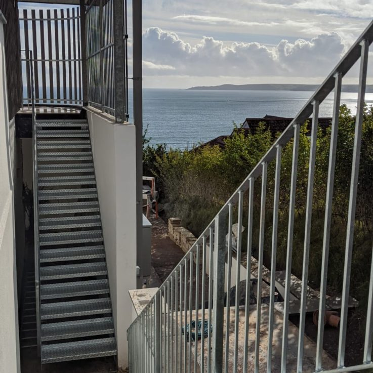 Chequerboard stairs & railings